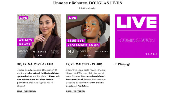 DOUGLAS LIVE: Shopping experience that delivers the entertainment factor